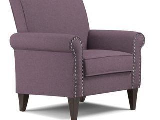 Copper Grove Herve Amethyst Purple linen Arm Chair