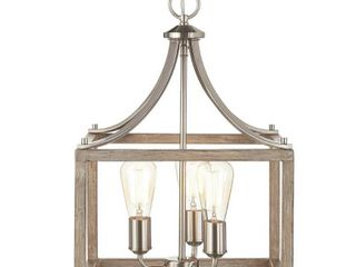 Home Decorators Boswell Quarter 14  3 light Brushed Nickel Chandelier 1002427108