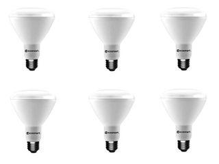 EcoSmart 65 Watt Equivalent BR30 Dimmable Energy Star lED light Bulb Bright White  6 Pack