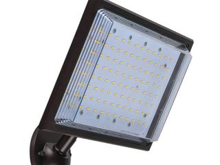 Commercial Electric 46 Watt Bronze Outdoor Integrated lED Street lamp Flood light with Dusk to Dawn Control