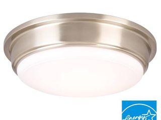 Hampton Bay Ceiling Mounted lighting 13 in  Brushed Nickel lED Flushmount IKE8091l 3