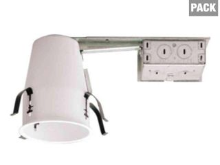 Halo H99 4 in  Steel Recessed lighting Housing for Remodel Ceiling  No Insulation Contact  Air Tite  6 Pack