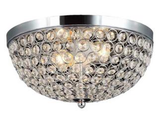 Home Decorators Ceiling 13 In led 2 light Chrome Crystal Flush Mount lighting