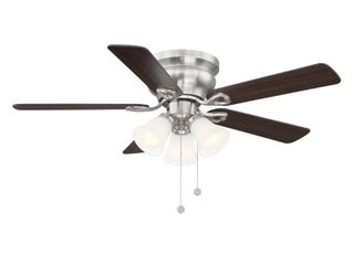 Clarkston II 44 in  lED Indoor Brushed Nickel Ceiling Fan with light Kit