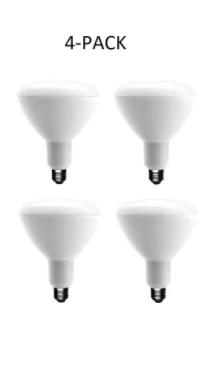 4pack Ecosmart 90 watt Equivalent Br40 Dimmable light Bulb Soft White 1003025102