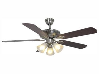 Hampton Bay Glendale 52 in  lED Indoor Brushed Nickel Ceiling Fan with light Kit