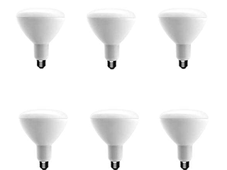 Ecosmart 75w Equivalent Soft White Br40 Dimmable led light Bulb  6 Pack