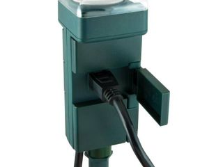 GE 6 Outlet Outdoor Yard Stake Timer  29972