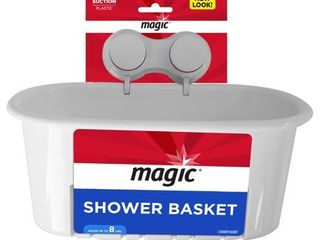 Magic Shower Suction Basket  White
