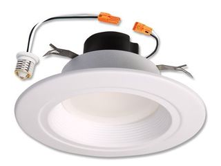 Halo Recessed lighting Rl560WH6940R 5  6  White lED Retrofit Baffle Trim Module