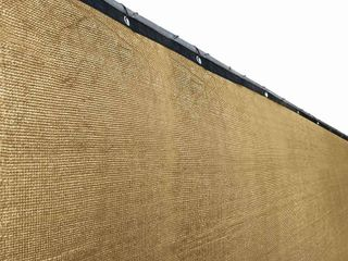 AlEKO Privacy Mesh Fabric Screen Fence with Grommets   5 x 50 Feet   Beige