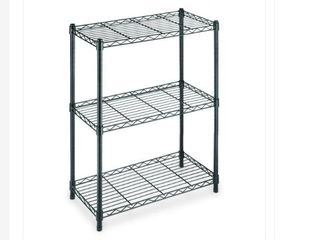 Black 3 Shelf Storage Unit  Item   EH WSTHDUS 006B