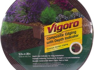 Vigoro 20 ft  Premium Brown Composite Edging