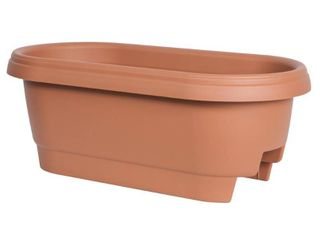 3 24  Oval Deck Rail Planter Terra Cotta Bloem