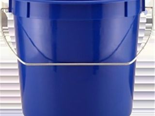 2 stacks of leaktite 255 2 5 Quart Blue Bucket
