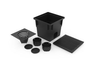 RElN 13 5 in  W x 13 5 in  l x 13 in  H Catch Basin Kit  Black