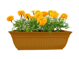 5 Misco Home Garden Plastic 18  Milano Window Box  Clay