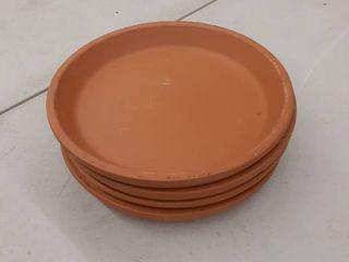 4  9  Tc Clay Saucer  Saucer Clay Terra Cotta