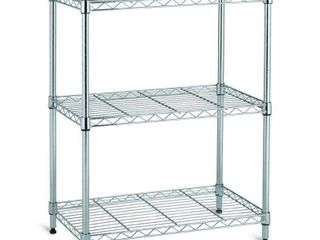 HDX Black 3 Tier Steel Wire Shelving Unit  23 in  W x 30 in  W x 13 in  D  Grey