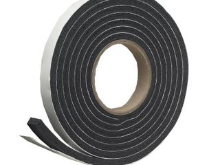 Frost King R516H 1 1 4 Inch by 7 16 Inch by 10 Foot Thick Sponge Rubber Foam Tape  Black