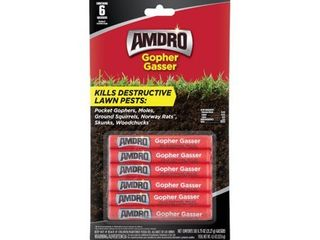 3  Amdro Gopher Gasser 6pk  Controls Gophers  Mole   Skunks