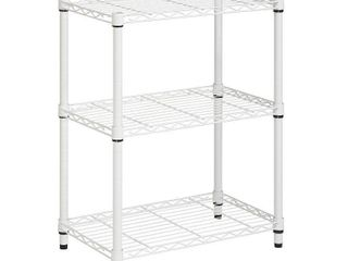 Honey Can Do 3 Shelf Steel Storage Shelving Unit  White
