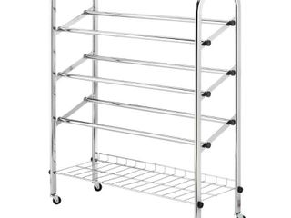 Whitmor 6060 580 Rolling Shoe Rack NOT INSPECTED OUTSIDE OF BOX