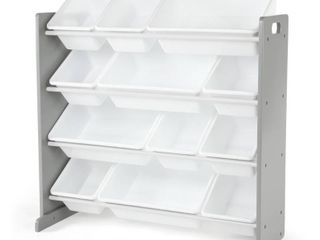 Kids Toy Organizer Inspire Collection White Gray   Humble Crew