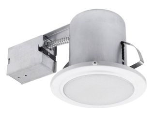 Globe Electric 90036 5 Inch Recessed Shower light Fixture  White