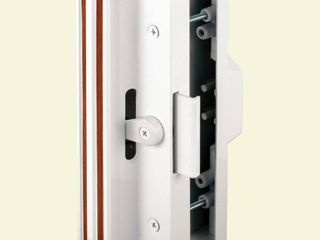 Prime line Products C 1116 Sliding Door Handle Set  White Aluminum and Diecast NOT FUllY INSPECTED