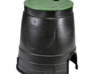 NDS 107BC Standard Series Round Valve Box Overlapping Cover ICV  6 Inch  Green Bottom Not Included