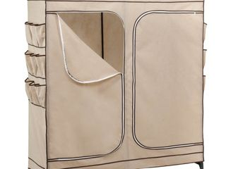 Honey Can Do Wardrobe Storage Closet  Khaki
