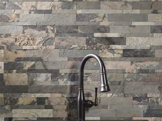 5 Aspect 23 6 in  x 5 9 in  Medley Slate Peel and Stick Stone Decorative Tile Backsplash