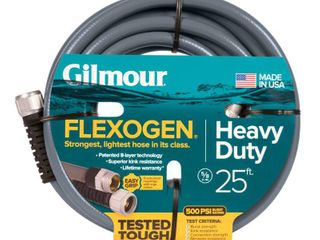Gilmour 5 8 in  Dia x 25 ft  Gray Flexogen Heavy Duty Garden Water Hose