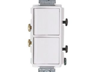 leviton 15 amps Combination Switch White 1 pk   Case Of  1  Each Pack Qty  1
