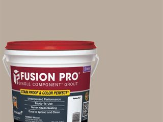 12  Custom Building Products Fusion Pro  386 Oyster Gray 1 Gal  Single Component Grout