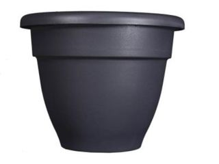 22 Black Plastic Planter with Removable Drain Plug  Model  CNA08000G18