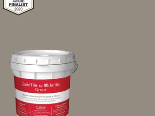 1  Daltile QuicTile D198 Stone 9 lb  Pre Mixed Urethane Grout  Grey