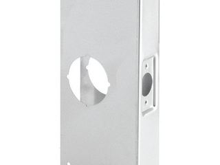Prime line Products U 9551 Recessed Door Reinforcer 1 3 4 Inch Thick by 2 3 8 Inch Backset 2 1 8 Inch Bore  Stainless Steel