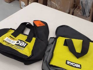 2  Ryobi lime Green Tool Bag no description