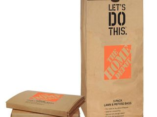 5 home depot lawn bags