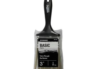 4 UTIlITY 3 in  Flat Cut Utility Paint Brush