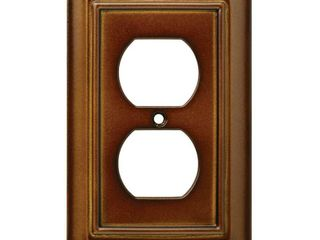 3 Hampton Bay Brown 1 Gang Duplex Outlet Wall Plate  1 Pack  Saddle
