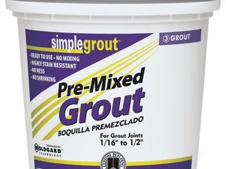 USED Custom Building Products Simplegrout Quart linen Pre Mixed Tile Grout PMG122QT AMOUNT unknown
