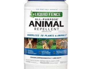 USED liquid Fence 7567092 2 lbs for Small Mammals Animal Repellent Granules AMOUNT unknown