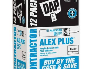 DAP Alex Plus 10 1 oz  Clear Acrylic latex Caulk Plus Silicone 12 Pack