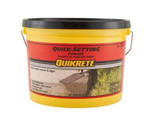 Quikrete Quick Setting Cement opened on one side AMOUNT unknown