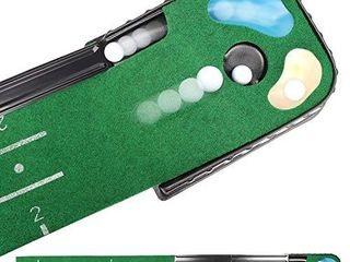 Champkey PUTTECH Hazard Golf Putting Mat   True Roll Surface   Non Slip Bottom Golf Putting Green   Bunker   Water Hazard for Accuracy Training   Ideal Gift for Home  Office  Outdoor Use