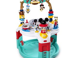 Bright Starts Disney Baby Mickey Mouse Camping with Friends Activity Saucer with lights and Melodies  Ages 6 months