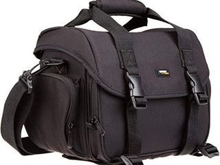 Amazon Basics large DSlR Gadget Bag  Orange interior